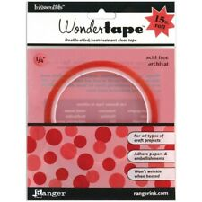 """1/4"""" Wonder Tape by Ranger; Double-sided, heat resistant, clear tape."""