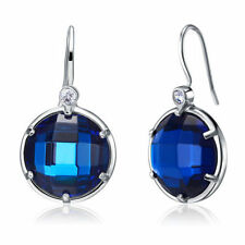 Drop/Dangle Sapphire Sterling Silver Fine Earrings