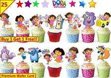 50 DORA THE EXPLORER Cup Cake Toppers Premium Wafer Birthday Party *STAND UP*