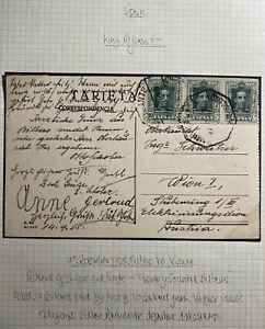 1925 Bilbao Spain RPPC Postcard Cover To Vienna Austria Bridge And Society