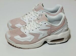 NEW! Wmns Airmax 2 Light 'White Barely Rose' Nike CK2602 100 Size 8