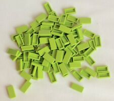 Lego 100 Lime Green Tile 1x2 Bulk Parts Lot