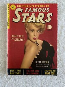 FAMOUS STARS #2 COMIC BOOK 1952  BING CROSBY BETTY HUTTON