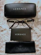Versace Eyeglasses Frame Model 1233-Q New with Case Tortoise and gold frame