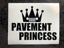 "4.5"" Jeep Pavement Princess Decal Sticker Funny Wrangler JK JL TJ Rubicon COLORS"