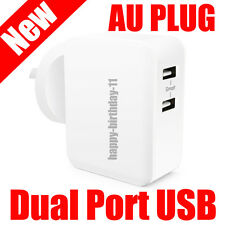 2 USB Port AC Adapter Wall Charger for iPhone 6S 6 7 8 X iPad Samsung HUAWEI