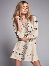 FREE PEOPLE Star Gazer Embroidered Mini  Neutral Combo Sz X-S $128 NWT OB507864