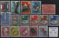 Svizzera - 1957 - Annata di Posta Ordinaria - completa - usata