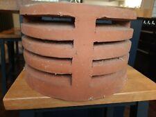 """Chimney Cowl Terracotta Clay Pot Flue Gas Vent Cap 10"""" pot"""