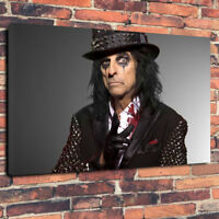 """Alice Cooper Printed Canvas Picture A1.30""""x20"""" 30mm Deep Heavy Metal , Rock"""