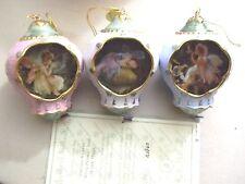 Dream Weaver, Frog Prince & Fairy Magic Porcelain Orn. Bradford- New