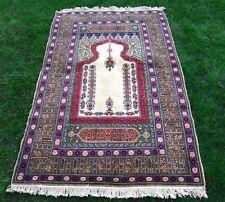 Turkish Anatolian Handmade Prayer Rug Namaz Floor Covering Unique Carpet 4x6 ft.