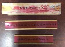 Vintage Set Of 2 Orange Normografo No 7 Linear Letter Stencil FoundArtShop.com