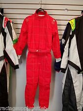 Sparco/Lico  Go Kart Racing Suit FIA  Red  2 Layer  Size X Large  [In the USA]