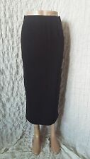 Hermes black 100% wool 100% silk skirt with deep side zip slits size 36