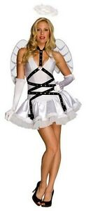 Ladies TASTE OF HEAVEN Angel Costume Dress Wings Halo Gloves Adult Small 2 4 6