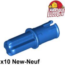 Lego Technic- 10x Axe Axle Pin Friction Ridges Lengthwise bleu/blue 43093 NEUF