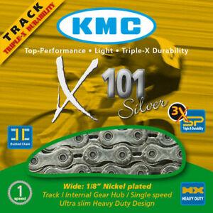 "KMC X101 CHAIN, SINGLE SPEED 1/8"" X ½"", 112 LINKS, SILVER"