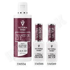 MASTER GEL Base Top Liquid Finishing Nails Designed Salon UV/LED Victoria Vynn