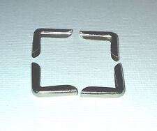 8 x Argento Sottile Metallo Angoli LIBRO 14 mm GAZZETTA laterale del menu Scrapbook il Myo Craft