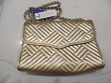 Rebecca Minkoff Women's Metallic Gold Quilted Leather Affair Shoulder Bag