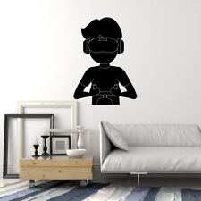 Vinyl Wall Decal VR Gamer Boy Virtual Reality Headset Games Stickers (ig5398)