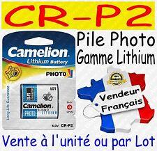 2 Piles Photo Lithium CR P2 Cr-p2 223 El223 Vl223 Crp2p 6 V Camelion