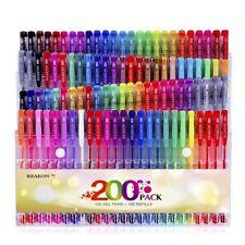Glitter Gel Pen 200 Pack Art Neon Metallic Pastel 100 Gel Marker 100 Refills