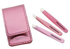 Tweezerman Micro Mini Tweezer Set 3pcs 1case Womens Makeup