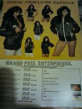 Linda Lusardi 1982 Advertisement Williams Cloths GP Formula 1 F1 Motor Racing