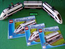 LEGO® 60051 ICE + OBA ohne Powerf.. / Highspeed Train +instr. Eisenbahn 12V 9V