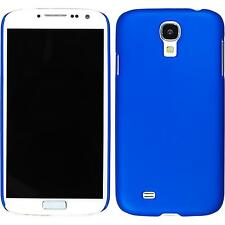 Hardcase Samsung Galaxy S4 rubberized blue Cover + protective foils