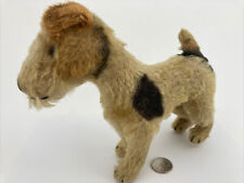 Antique Early 1900s Mohair Steiff Foxy Small Terrier Dog🐶 Glass Eyes No Tag