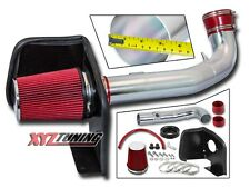 "3.5"" RED Heat Shield Cold Air Intake For 09-13 Avalanche/Yukon XL 1500 Denali V8"