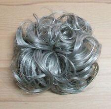 Scrunchie Haarteil Haargummi Zopfgummi Haarverdichtung in meliertem grau
