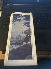 Vintage Map: Tour Map of Monterey Peninsula, AAA SOCAL 1982