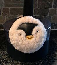 NWT COACH EARMUFFS PENGUIN Shearling Sparkling Gift Box