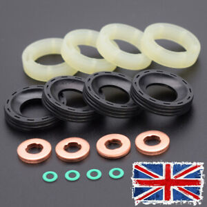 FOR CITROEN 207 307 1.6HDI FORD 1.6TDCI PEUGEOT C3 ORING FUEL INJECTOR SEAL KIT