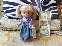"""Precious Moments Doll Collection 7"""" Vinyl Penelope in Purple Doll #1856 NWT"""