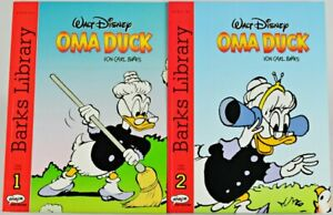 """Carl Barks Library  """" OMA DUCK """"  BAND 1 und BAND 2 -  Z 1 / 1+"""