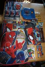 Spider-man 14 piece Lunch box & School Set sandwich Pencils Stickers