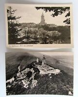 Lot 2x DDR Echtfoto-AK Kyffhäuser Denkmal Gietenkopf Harz ~1955/60 ungelaufen