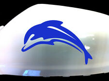Dolphin Car Sticker Wing Mirror Styling Decals (Set of 2), Blue