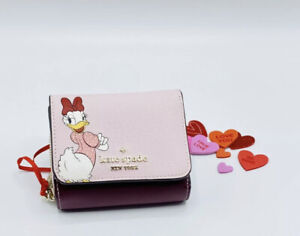 Kate Spade Daisy Duck Clarabelle Trifold Wallet Disney Limited Edition NWT