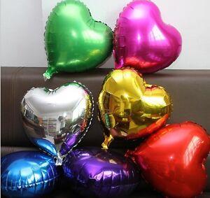 "30"" Giant Foil Balloon Jumbo Heart Shape Love Bride Wedding Birthday Valentines"