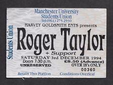 ROGER TAYLOR - QUEEN  :   1994 SOLO TOUR - MANCHESTER UK CONCERT TICKET STUB