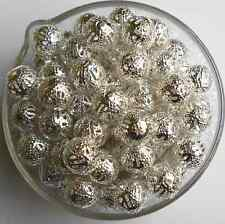 4mm 6mm 8mm 10mm Gold /Silver Plated Metal Filigree Spacer Loose Beads DIY Craft