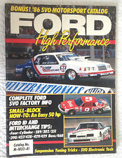 FORD Motorsport cataloge 1986 SVO Boss 429 302 351 Windsor Race