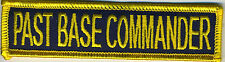 Past Base Commander Tabs - 1x4 inch - EonTwill BC Patch Cat No C6368