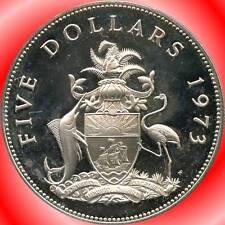 1973 Bahamas 5 Dollar Coin ( 42.12 Grams .925 Silver )